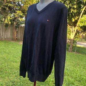 Tommy Hilfiger Blue Sweater 100% Cotton Size L